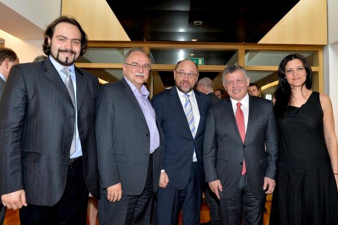 Almoço Oficial com o Rei da Jordânia- Estrasburgo 10/03/2015
